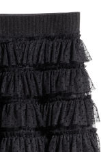 Tiered mesh skirt - Black - Ladies | H&M 3